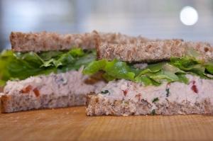 Tuna Salad Sandwich on Alvarado Street Sprouted Barley Bread